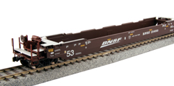 Kato HO Gunderson MAXI-IV Well Car BNSF Swoosh Logo #253411, DUE 9/30/2019, LIST PRICE $110