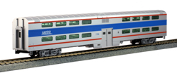 Kato HO Pllmn Bi-Lvl 4 Wndw Coach Chicago Metra #7780 Light , DUE 3/30/2019, LIST PRICE $119