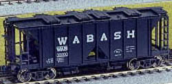 Kato HO ACF 70T OS COVD HOP 3-CAR WABASH BL, LIST PRICE $45