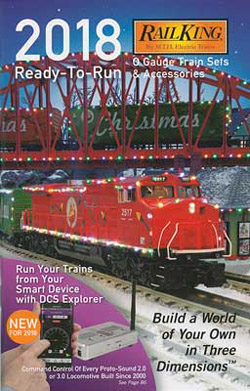 MTH-O O 2018 RTR Set/Accy Catalog, LIST PRICE $9999.99