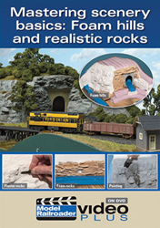 Kalmbach Mastering Scenery Basics Foam Hills&Real Rocks DVD, LIST PRICE $12.99