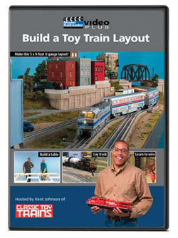 Kalmbach Build a Toy Train Layout DVD, DUE 8/31/2018, LIST PRICE $12.99