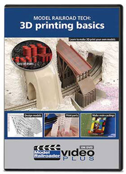 Kalmbach Model Railrd Tech:3D Print DVD, LIST PRICE $12.99