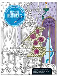 Kalmbach Musical Instrument Coloring Bk, LIST PRICE $12.99