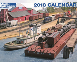 Kalmbach 2018 Calendar Model Railroad, LIST PRICE $12.99