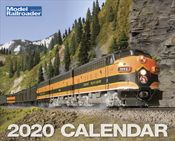 Kalmbach 2020 Model Railroader Calendar, LIST PRICE $12.99