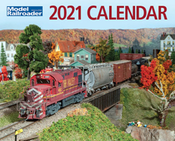Kalmbach 2021 Model Railroader Calendar, LIST PRICE $12.99