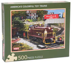 Kalmbach America's Colorful Toy Trains Puzzle 500 Pieces 15, LIST PRICE $14.99