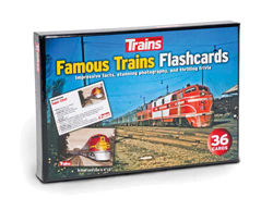 Kalmbach Famous Trains Flashcards 36 Cards, DUE TBA, LIST PRICE $9.99