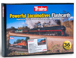 "Kalmbach Powerful Locomotives Flashcards 36 Premium Quality 4 x 6"", DUE TBA, LIST PRICE $9.99"
