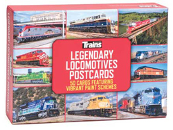 Kalmbach Legendary Locomotives Postcards pkg50, LIST PRICE $14.99