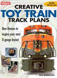 Kalmbach CREATIVE TOY TRAIN TRACK PLANS, LIST PRICE $18.95