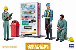 Hasegawa Models 1:35 CONSTRUCTION WORKERS SET B SODA , LIST PRICE $19.99