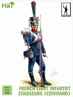 HaT Ind. Figures FRENCH CHASSEURS COMMAND 28mm , LIST PRICE $19.99