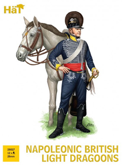 HaT Ind. Figures Nap British Light Dragoons 28m, LIST PRICE $15