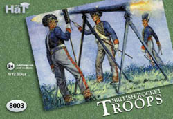 HaT Ind. Figures BRITISH ROCKET TROOPS 1:72    , LIST PRICE $7.5
