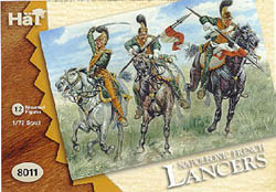 HaT Ind. Figures FRENCH LANCERS 1:72, LIST PRICE $7.5