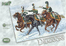 HaT Ind. Figures RUSSIAN DRAGOONS 1:72, LIST PRICE $7.5