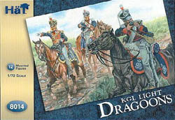 HaT Ind. Figures KGL LIGHT DRAGOONS 1:72, LIST PRICE $7.5