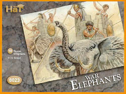 HaT Ind. Figures CARTHAGINIAN WAR ELEPHANTS :72, LIST PRICE $9.29