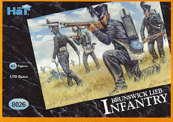 HaT Ind. Figures BRUNSWICK LEIB BATALLION 1:72 , LIST PRICE $7.5
