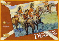 HaT Ind. Figures BRITISH DRAGOONS 1:72         , LIST PRICE $7.5