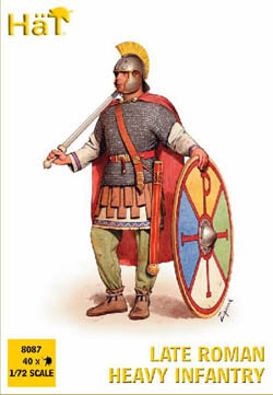 HaT Ind. Figures LATE ROMAN Hvy INFANTRY 1:72  , LIST PRICE $7.5
