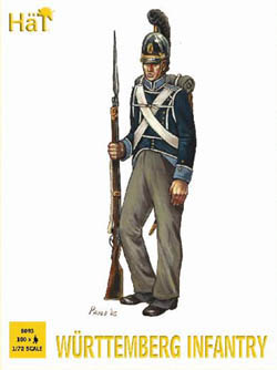HaT Ind. Figures WURTTEMBERG INFANTRY 1:72 , LIST PRICE $15