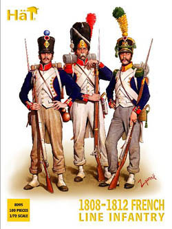 HaT Ind. Figures FRENCH INFANTRY 1808-12 1:72  , LIST PRICE $15
