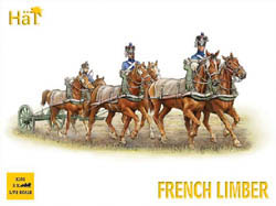 HaT Ind. Figures FRENCH 6 HORSE LIMBER 1:72    , LIST PRICE $10.8