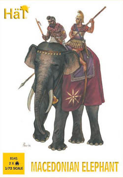 HaT Ind. Figures MACEDONIAN ELEPHANT 1:72 , LIST PRICE $7.5