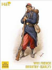 HaT Ind. Figures WW-I FRENCH INFANTRY 1914 1:72, LIST PRICE $15