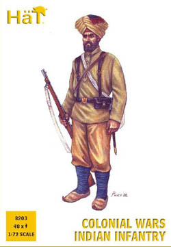 HaT Ind. Figures COLONIAL WARS INDIAN INF 1:72 , LIST PRICE $7.5