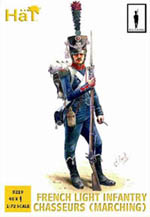 HaT Ind. Figures FRENCH CHASSEURS MARCHING 1:72, LIST PRICE $9.29