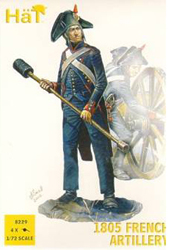 HaT Ind. Figures 1805 FRENCH ARTILLERY 1:72, LIST PRICE $9.29
