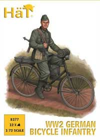 HaT Ind. Figures WW-2 GER BICYCLE INFANTRY 1:72, LIST PRICE $9.29