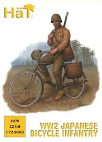HaT Ind. Figures WW-2 JAPANESE BICYCLE INFANTRY, LIST PRICE $9.29