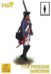 HaT Ind. Figures 7YrW PRUSSIAN MARCHING 1:72, LIST PRICE $10.5