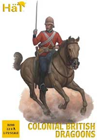 HaT Ind. Figures COLONIAL BRITISH DRAGOONS 1:72, LIST PRICE $10.5