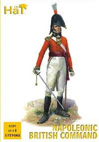 HaT Ind. Figures Napoleon British Command 1:72, LIST PRICE $10.8