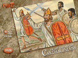 HaT Ind. Figures CARTHAGINIAN AFRICAN LT INF:32, LIST PRICE $10.5