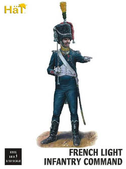 HaT Ind. Figures FRENCH LIGHT INFANTRY COMM :32, LIST PRICE $19.5