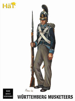 HaT Ind. Figures WURTTEMBERG MUSKETEERS 1:32, LIST PRICE $15