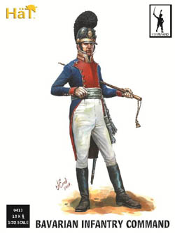 HaT Ind. Figures Napoleon Bavarian Command 1:32, LIST PRICE $20