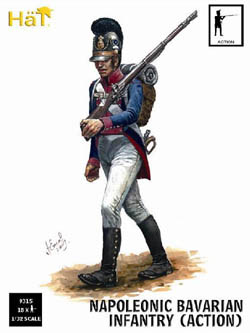 HaT Ind. Figures BAVARIAN INFANTRY Action 1:32 , LIST PRICE $15