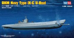 Hobby Boss DKM NAVY TYPE IX-C U-BOAT :350, LIST PRICE $20