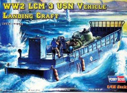 Hobby Boss LCM 3 USN LANDING CRAFT 1:48  , LIST PRICE $62.99