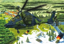 Hobby Boss 1:72 Eurocopter EC-665 Tiger UHT Attack Helicopter, LIST PRICE $24.99