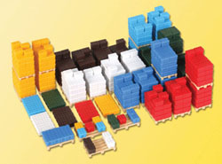 Kibri HO Crates on Pallets, LIST PRICE $21.99