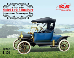 ICM MODELS 1913 MODEL T ROADSTER 1:24, LIST PRICE $48.99